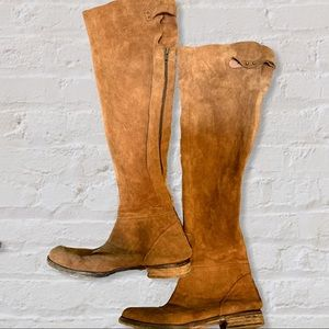 Free People Above The Knee Suede Boots RARE